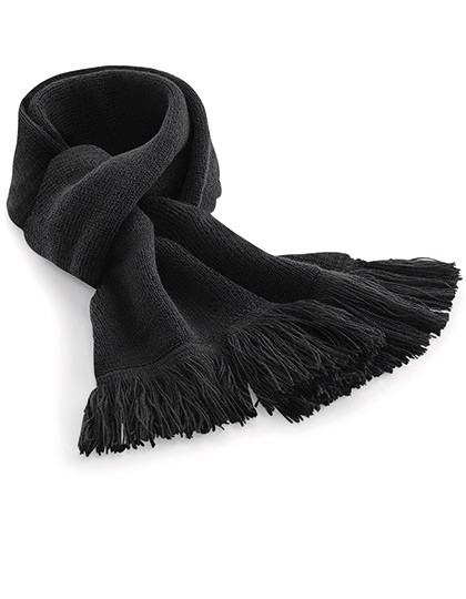 Classic Knitted Scarf - Black / One Size