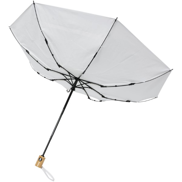 "Bo 21"" fold. auto open/close recycled PET umbrella - White"