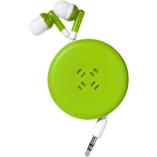 Reely retractable earbuds - Lime / White