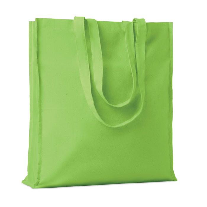 Cotton shopping bag w/ gusset Portobello - Lime