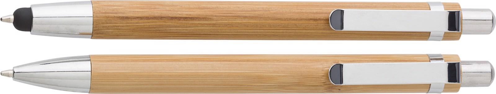Set de escritura, de bambú