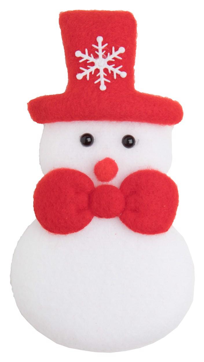 Christmas Fridge Magnet Hadock - White / Red