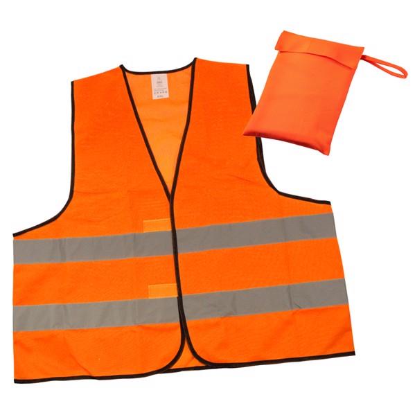 "Warnweste ""Standard"" Etui - Neon-Orange"