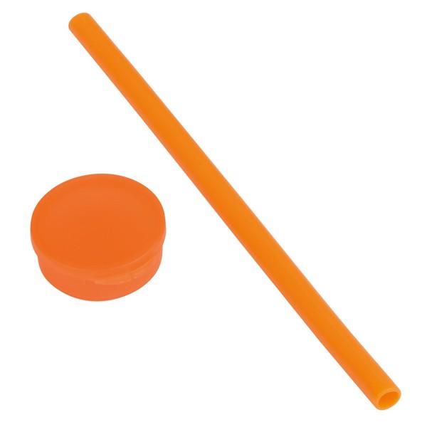 Silikonové Brčko Practically / Oranžová