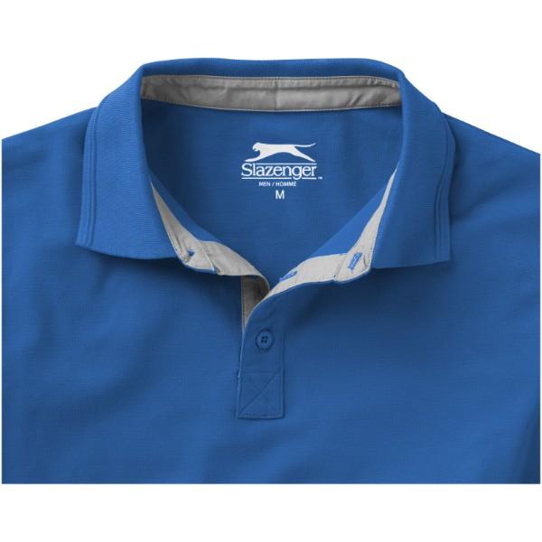 Hacker short sleeve polo - Sky blue / Grey / XXL