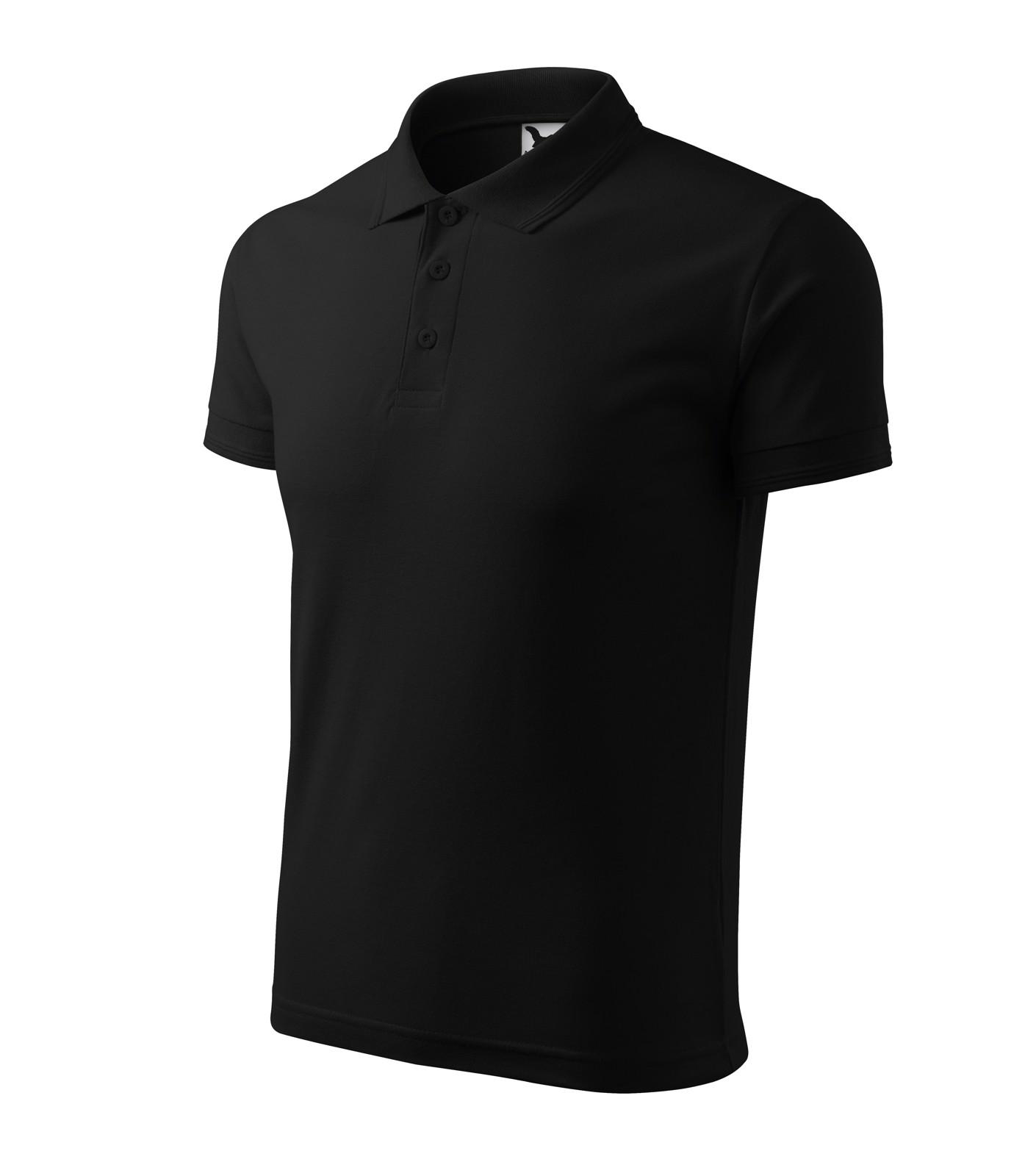 Polo Shirt men's Malfini Pique Polo - Black / L