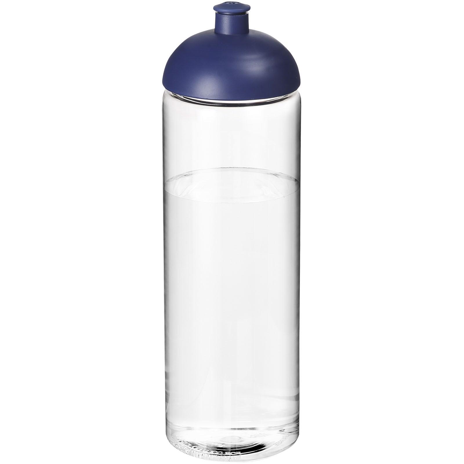 H2O Vibe 850 ml sportovní lahev s kupolovitým víčkem - Průhledná / Modrá