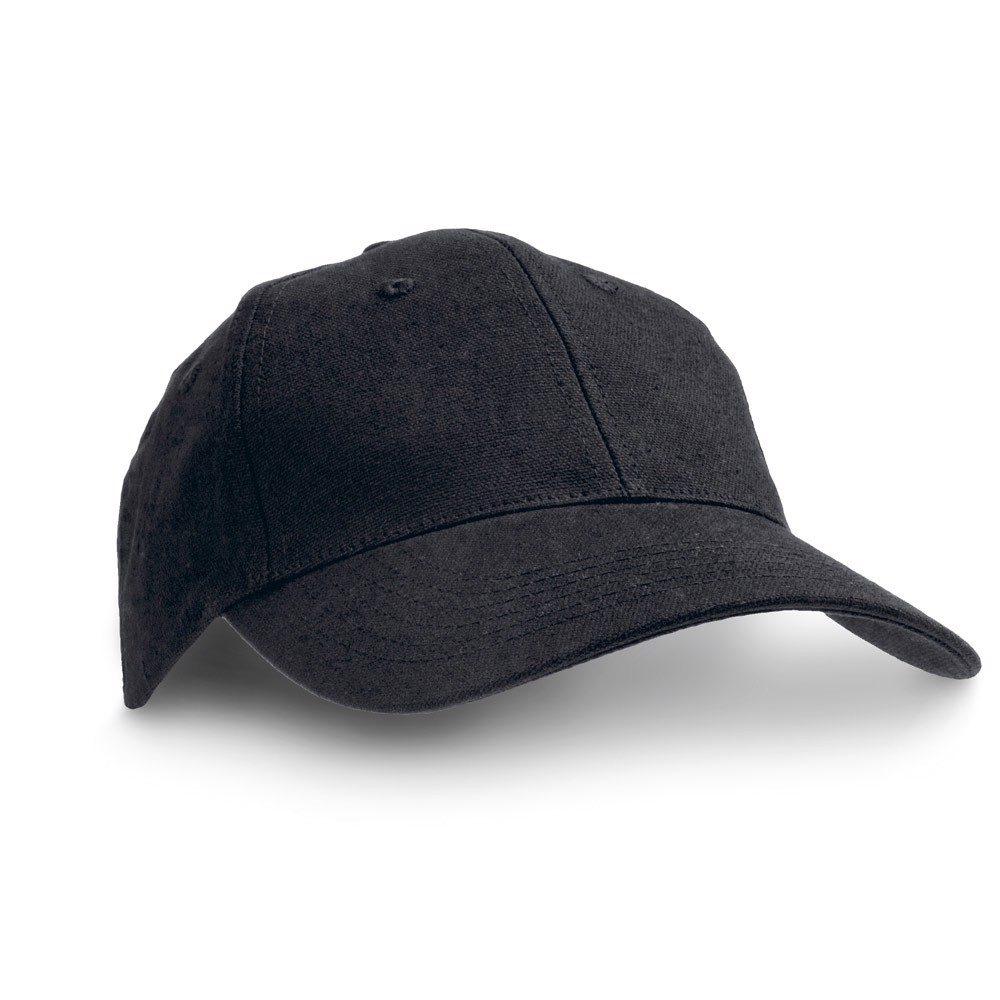 CHRISTIAN. 100% Cotton Canvas Cap - Black