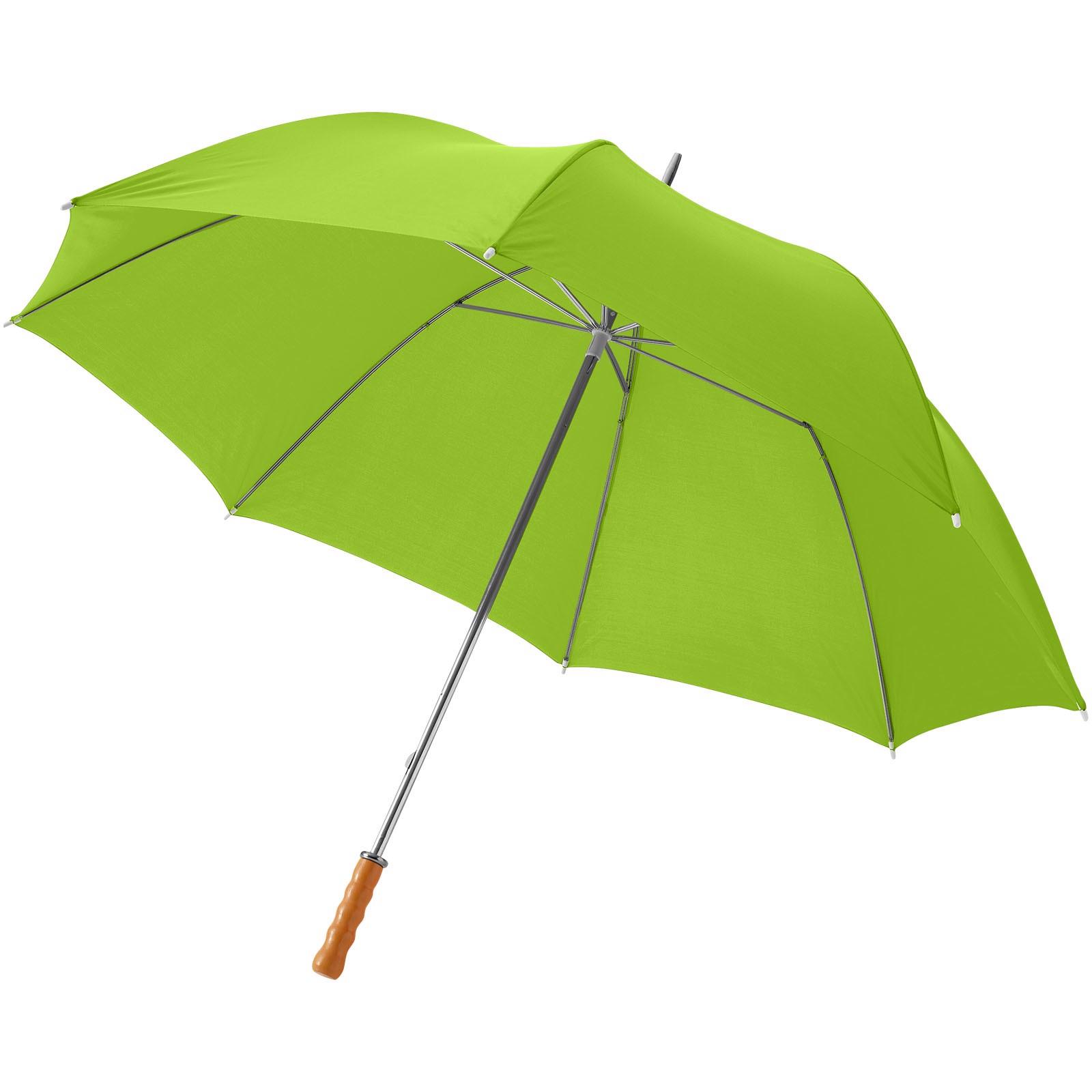 """30"""" golfový deštník Karl s dřevěnou rukojetí - Limetka"""