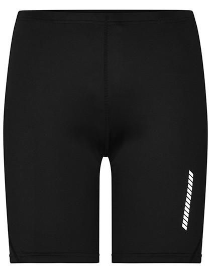 Ladies` Running Short Tights - Black / L