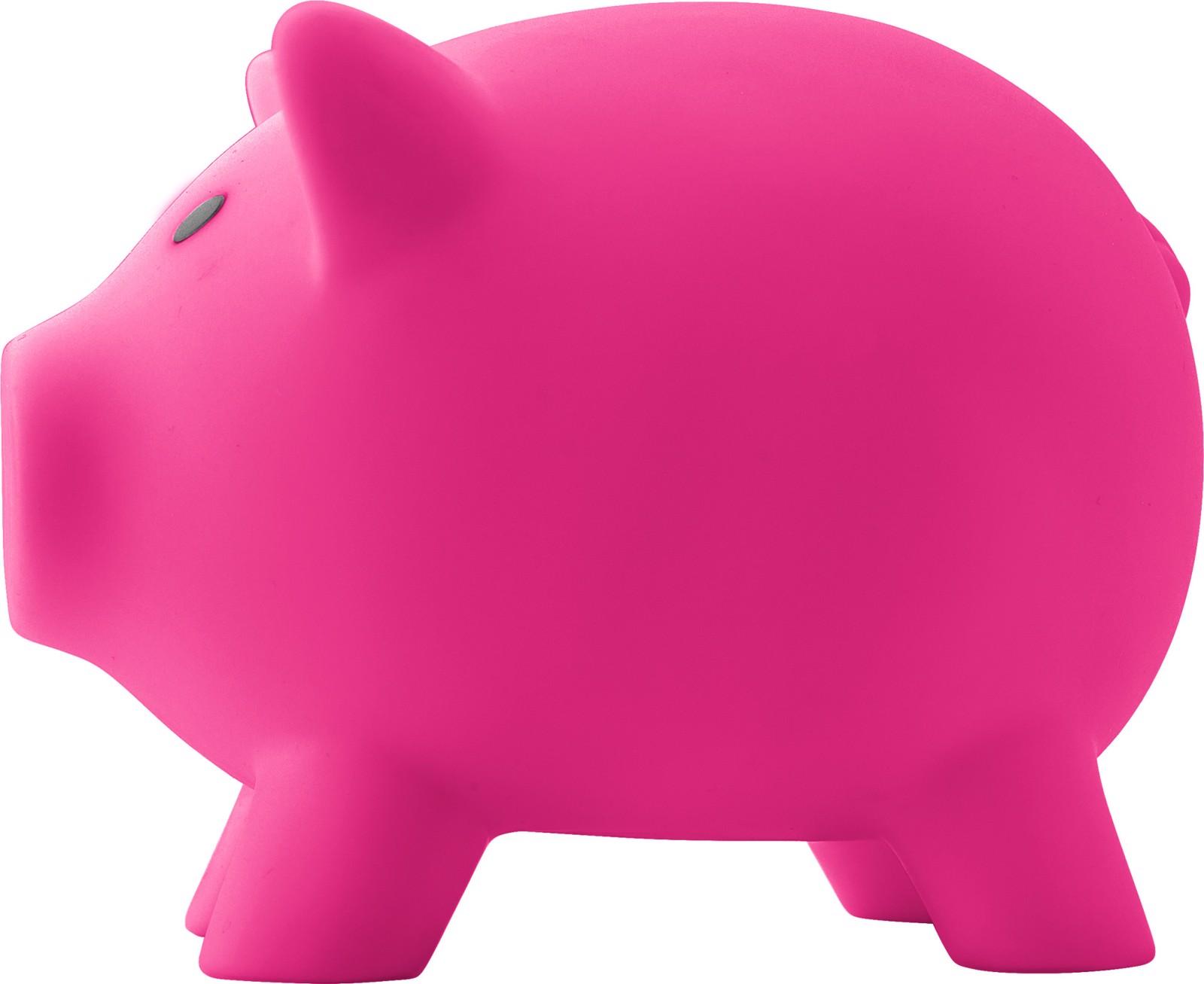 PVC piggy bank - Pink