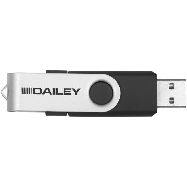 OTG Rotate USB - Solid black / 2GB