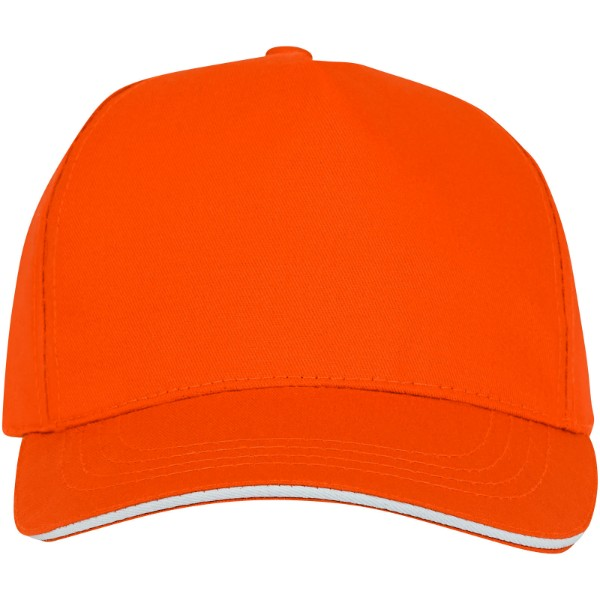 Ceto 5 panel sandwich cap - Orange