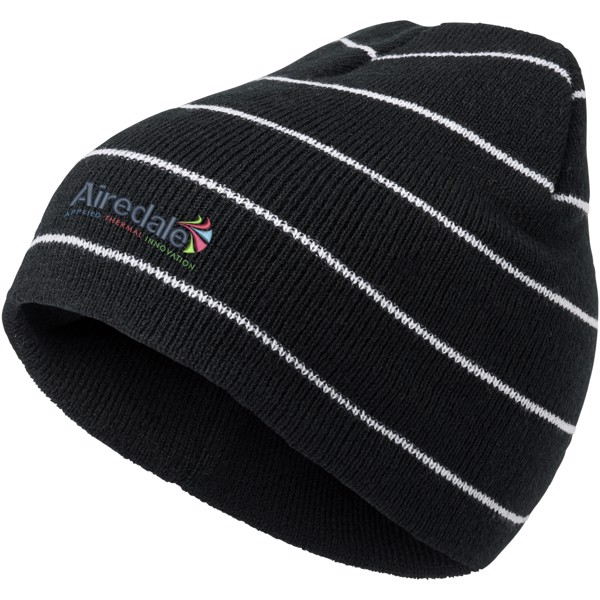Aby double layer striped beanie
