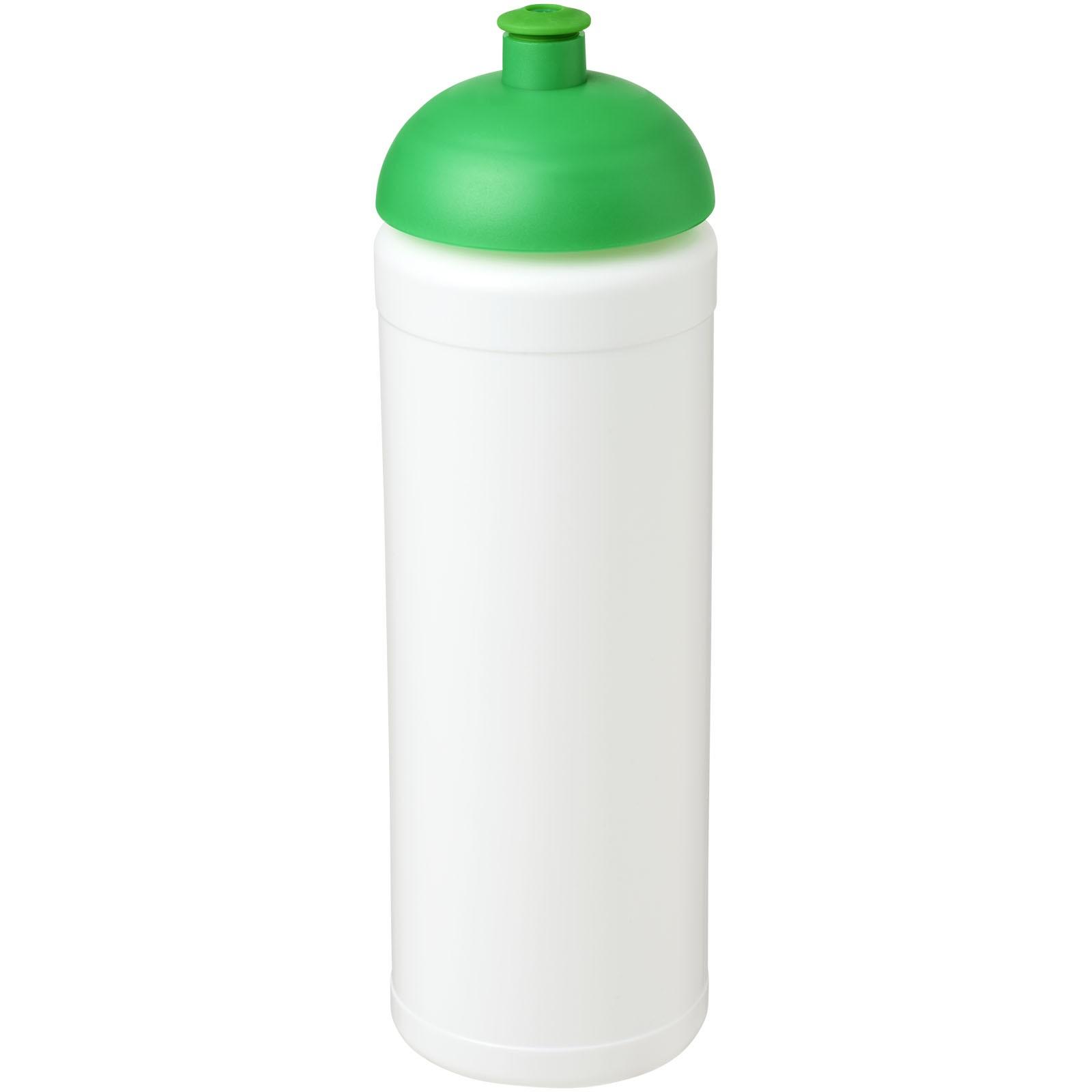 Baseline® Plus grip 750 ml Sportflasche mit Stülpdeckel - Weiss / Grün