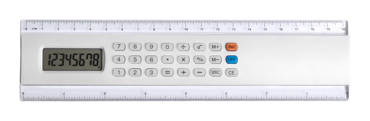 Kalkulačka S Pravítkem Profex - Bílá