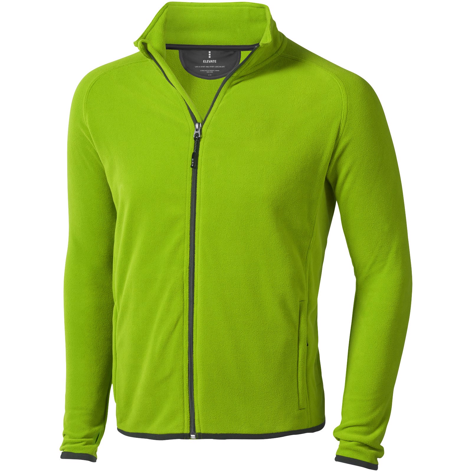 Bunda Brossard z materiálu mikro fleece - Zelené jablko / XS