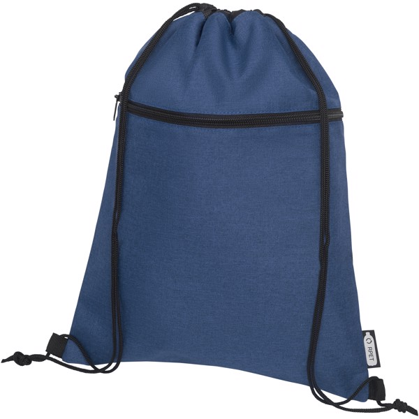 Ross RPET drawstring backpack - Heather navy