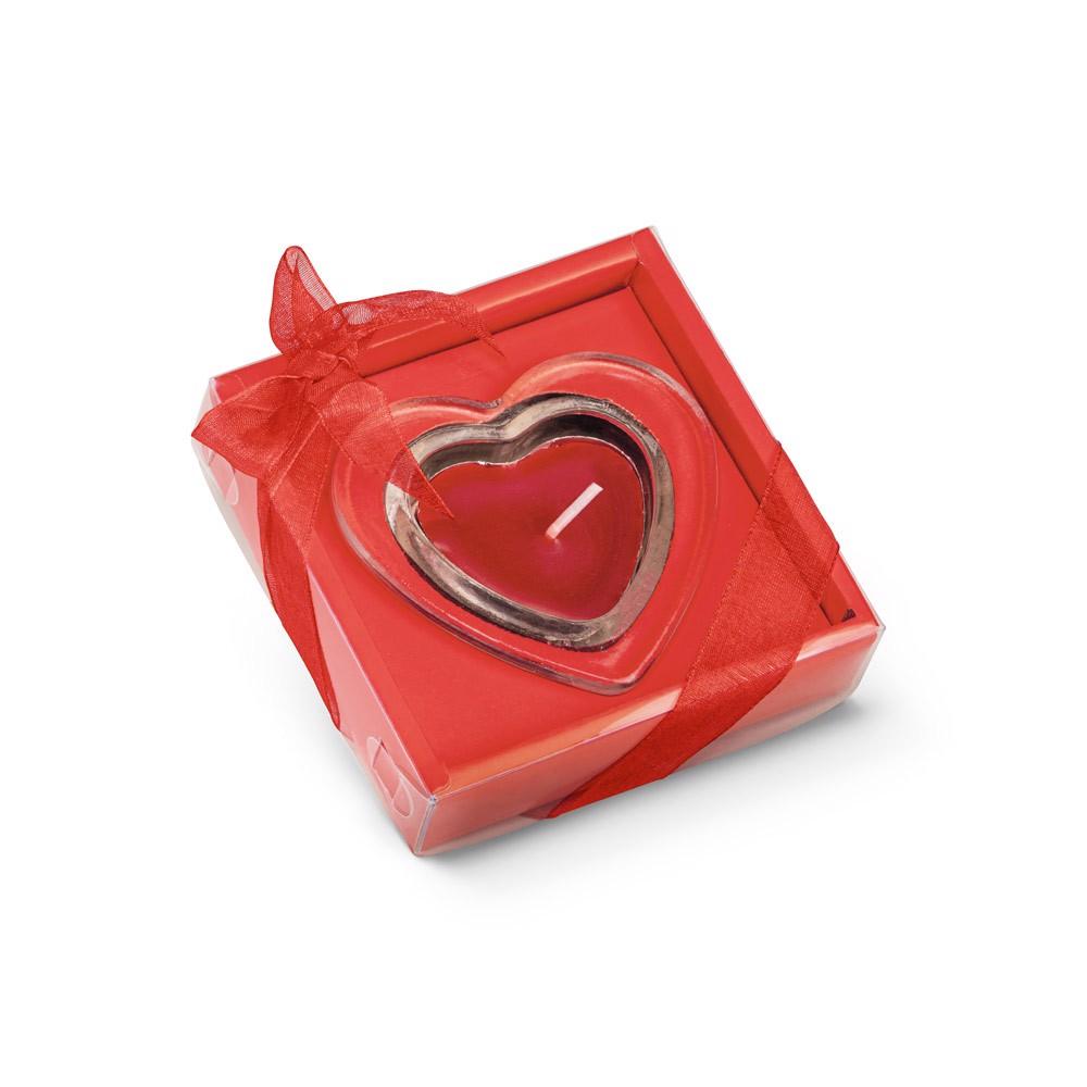 SWEET. Heart-shaped candle