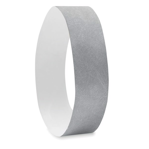 One sheet of 10 wristbands Tyvek - Silver