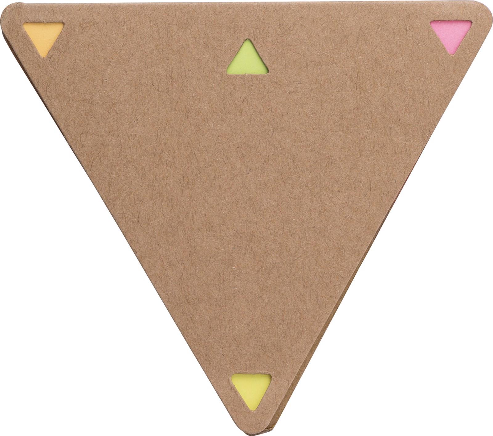 Soporte de papel y notas adhesivas - Brown