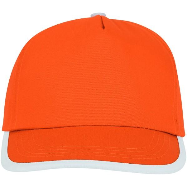 Nestor 5panelová čepice s kontrastní linkou - 0ranžová / Bílá
