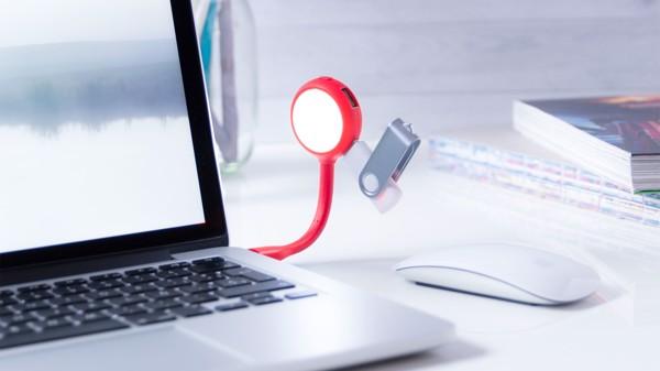 Lámpara Puerto USB Ticaro - Blanco