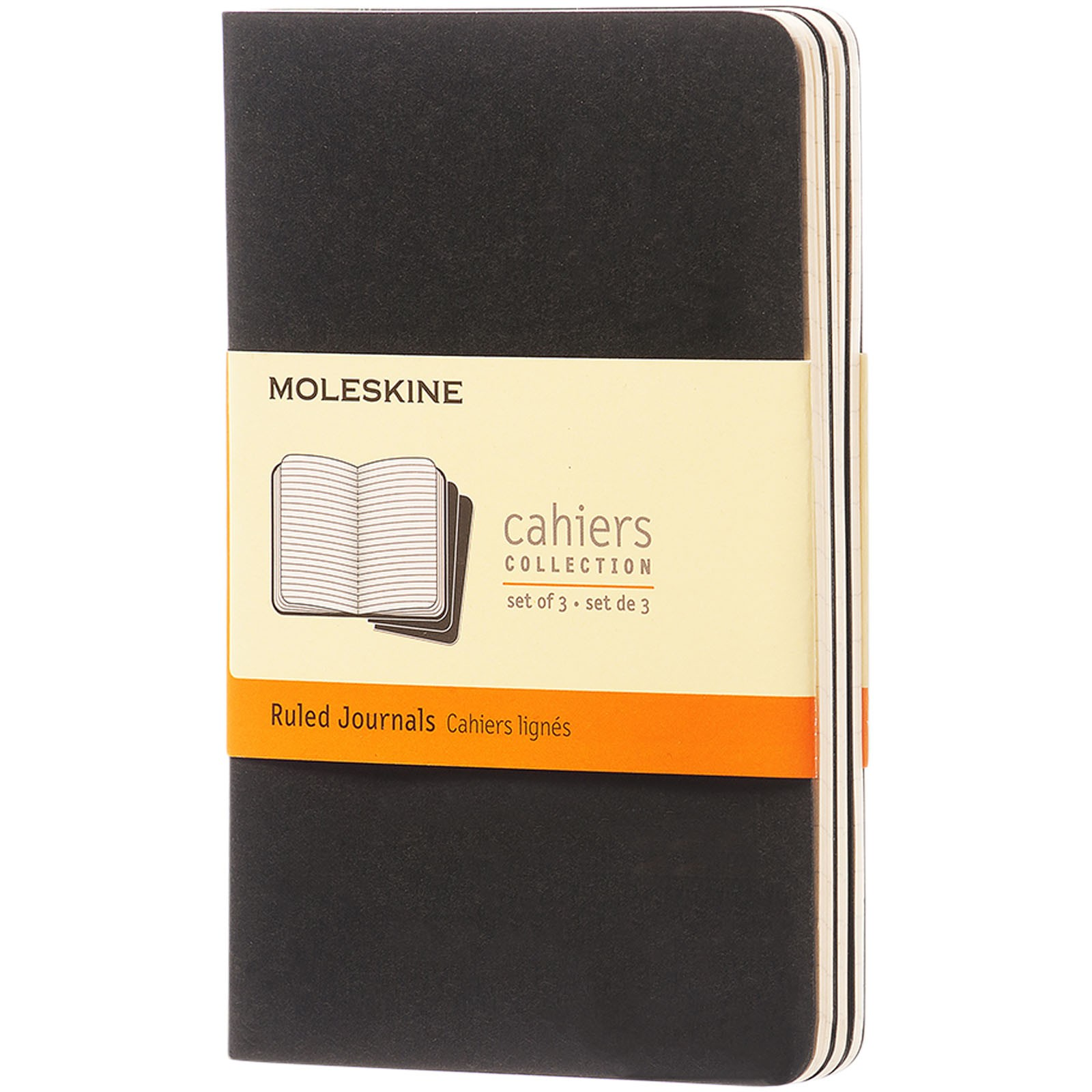 Cahier Journal PK - ruled - Solid black