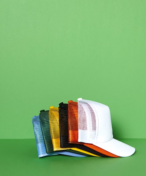 Cotton twill and plastic cap - Yellow