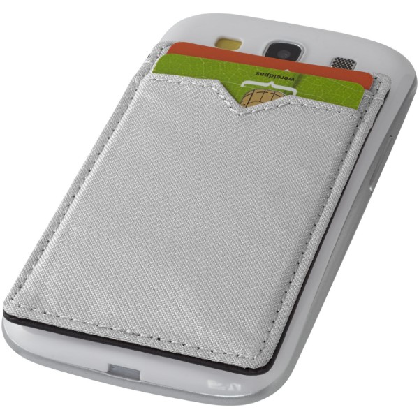 Eye dual pocket RFID smartphone wallet - Silver