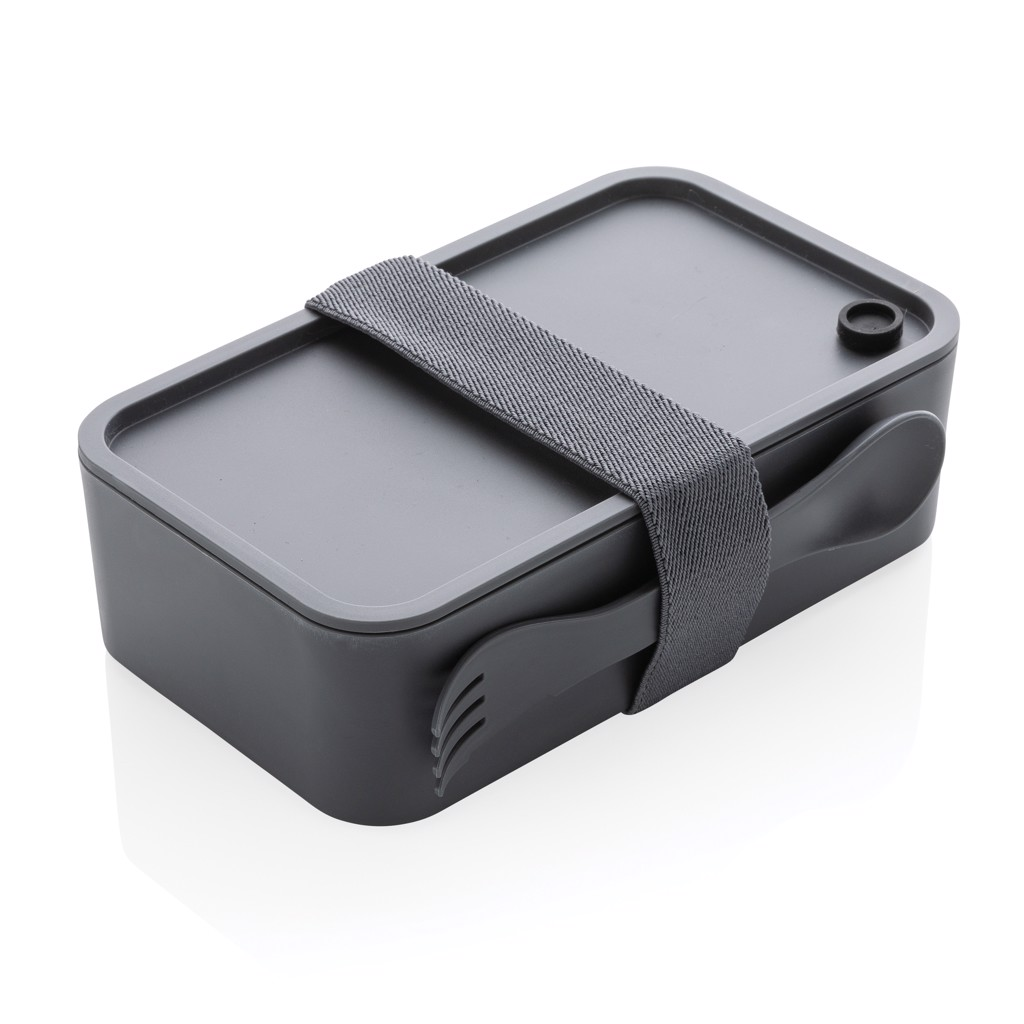 PP lunchbox with spork - Anthracite