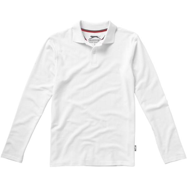 Point langärmliges Poloshirt für Herren - Weiss / XL