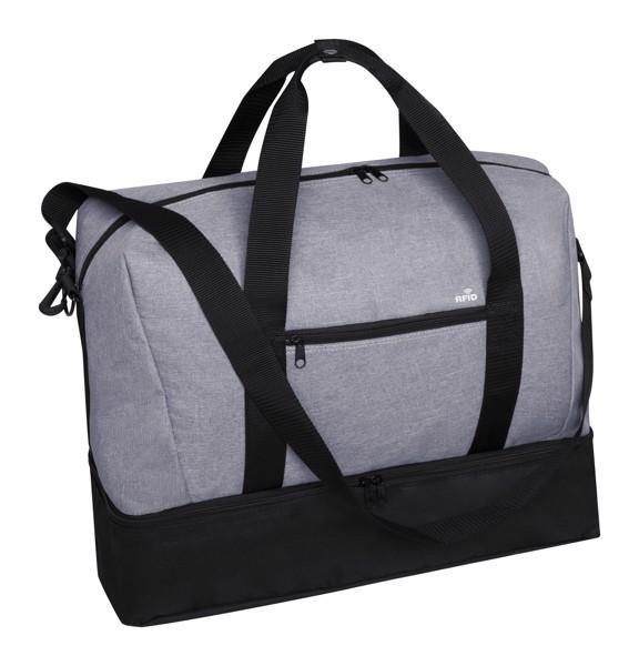 Sports Bag Kanit - Ash Grey / Black