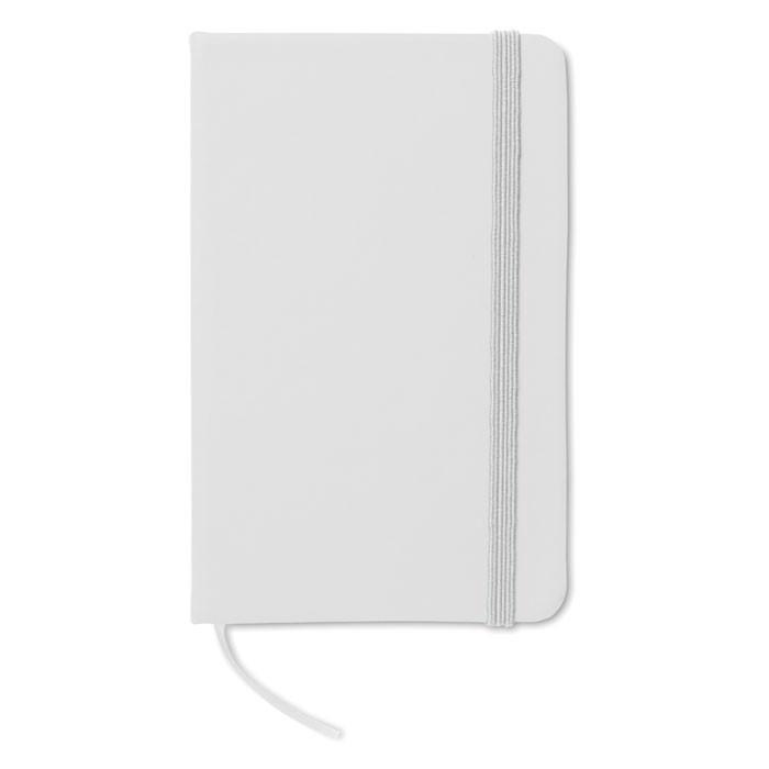 DIN A6 Notizbuch, liniert Notelux - weiß