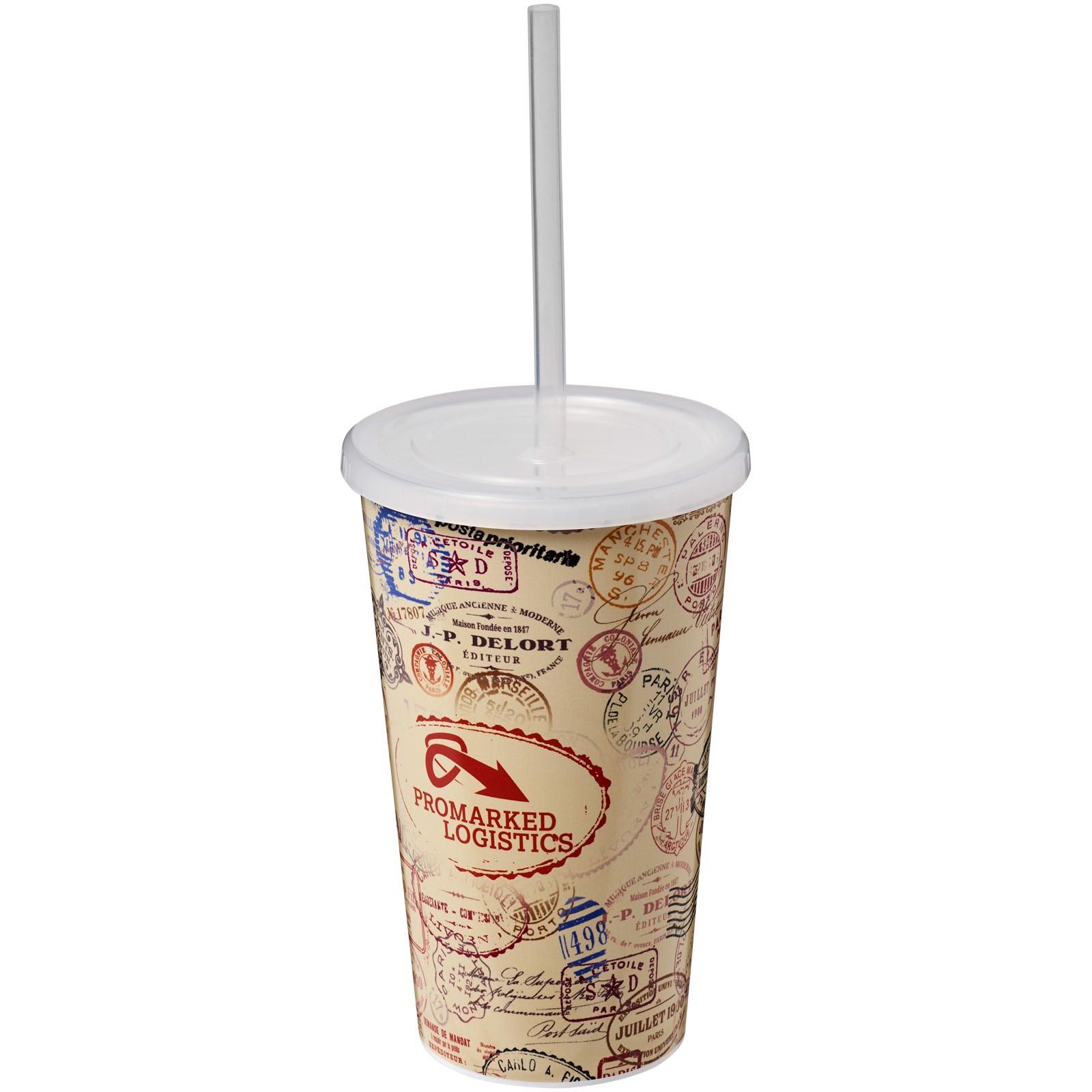 Brite-Americano® 350 ml double-walled stadium cup - White