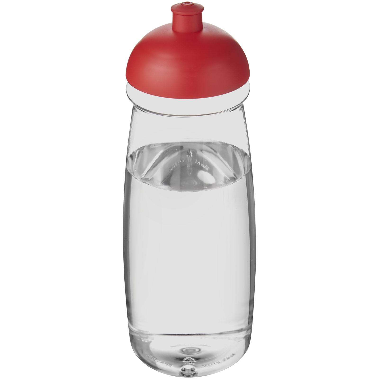 H2O Pulse® 600 ml dome lid sport bottle - Transparent / Red
