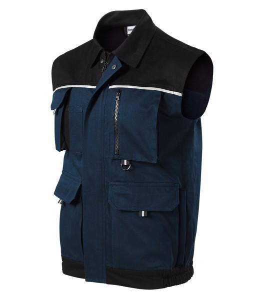 Pracovní vesta pánská Rimeck Woody - Námořní Modrá / L
