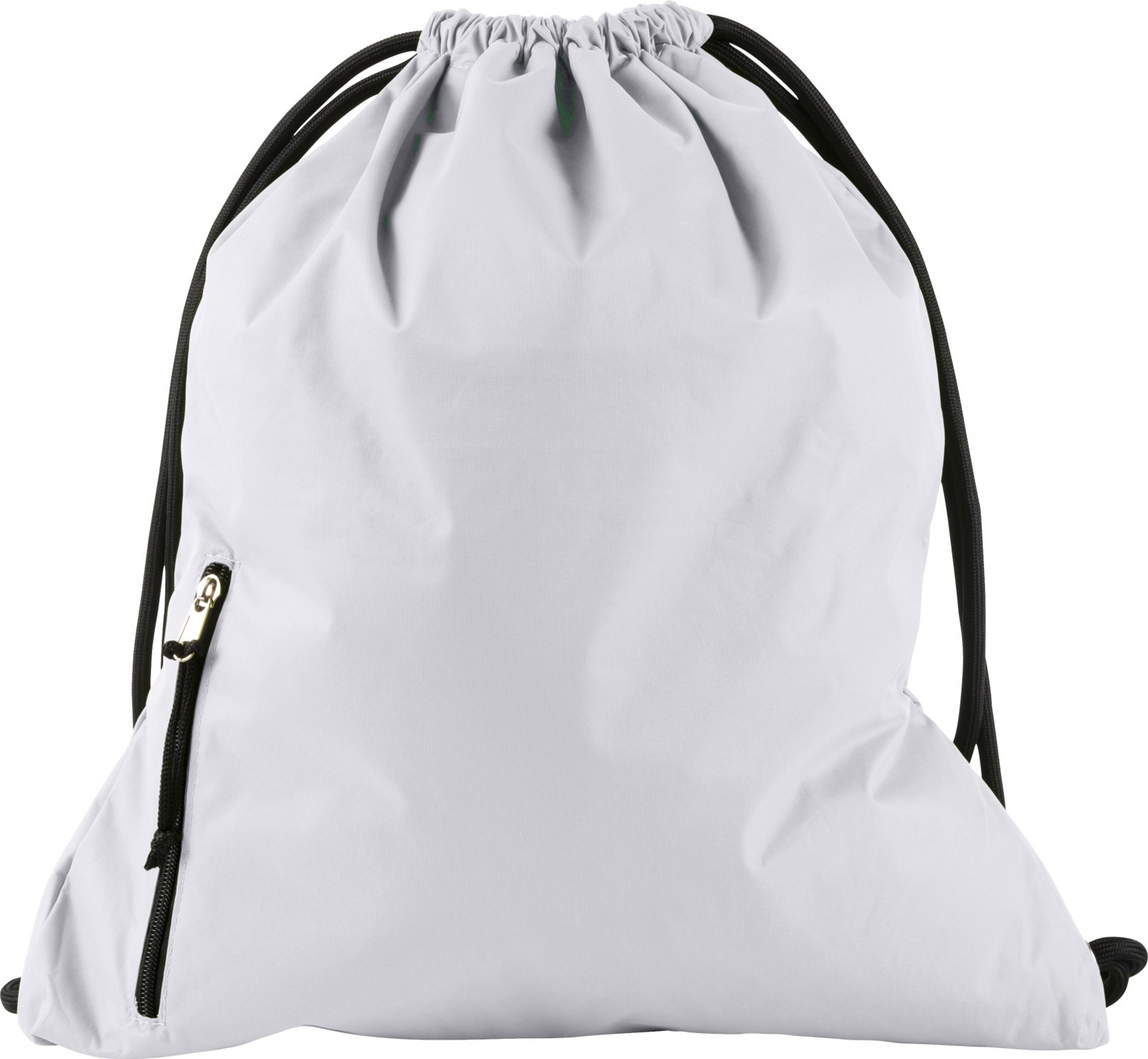Pongee (190T) drawstring backpack - White