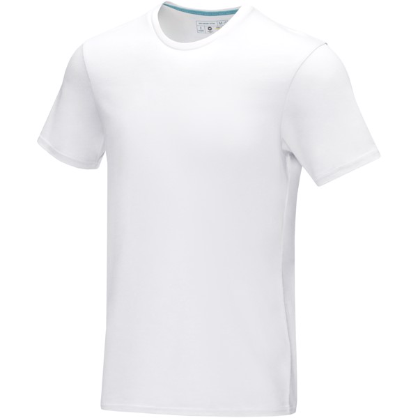 Azurite short sleeve men's GOTS organic t-shirt - White / L