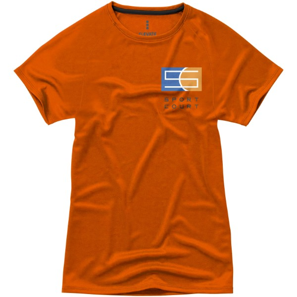 Niagara short sleeve women's cool fit t-shirt - Orange / XS