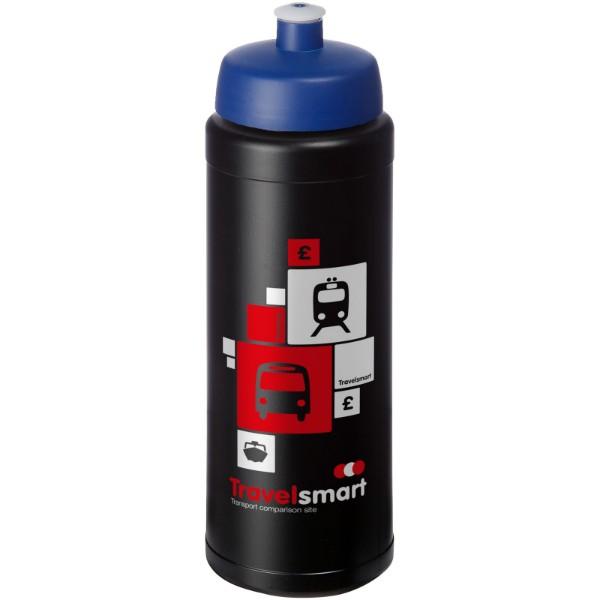 Baseline® Plus grip 750 ml sportovní lahev s víčkem na sport - Černá / Modrá