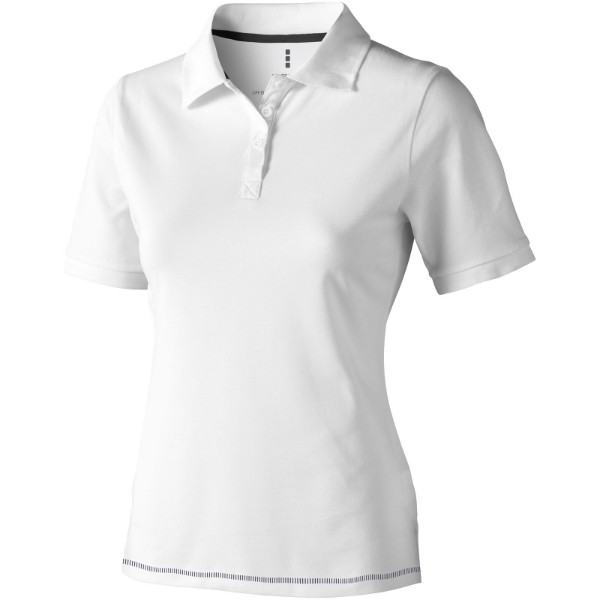 Calgary short sleeve women's polo - White / Navy / XXL