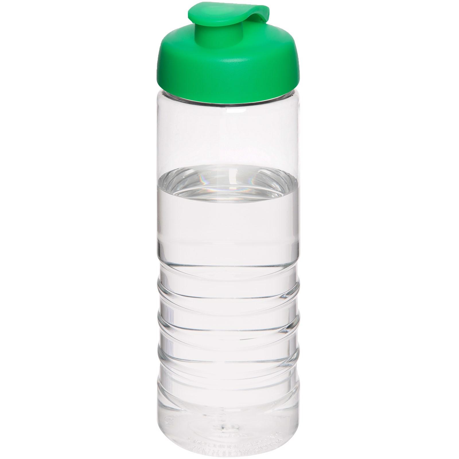 H2O Treble 750 ml sportovní lahev s vyklápěcím víčkem - Průhledná / Zelená