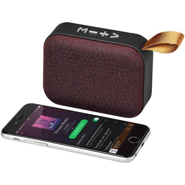 Fashion fabric Bluetooth® speaker - Red