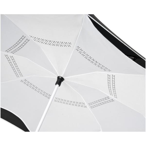 """Yoon 23"""" inverzně barevný rovný deštník - Bílá / Černá"""