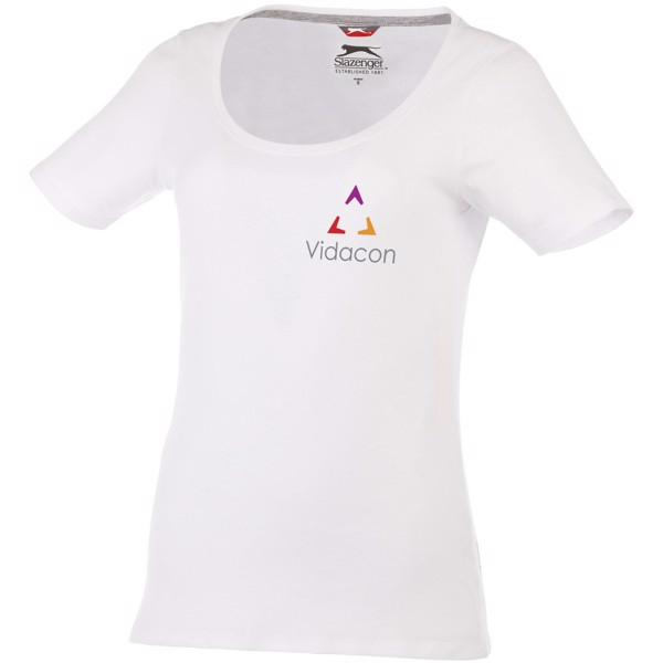 Bosey short sleeve women's scoop neck t-shirt - White / XXL