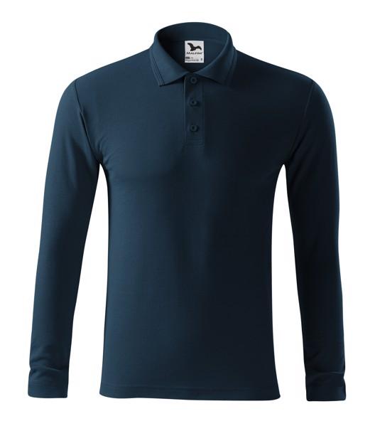 Polo Shirt men's Malfini Pique Polo LS - Navy Blue / L