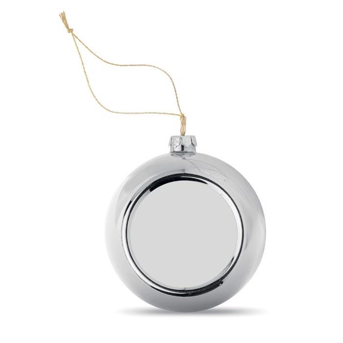 Bombka do sublimacji Happy Ball - srebrny