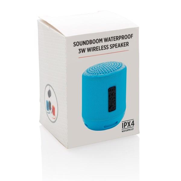 Soundboom vízálló 3W-os vezeték nélküli hangszóró - Kék