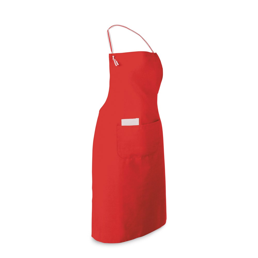 CHIVES. Apron in cotton and polyester - Red